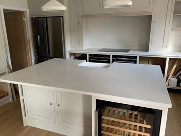 Ice Snow Quartz Worktop and stone kitchen worktops from Classic Stone ltd @ www.kitchenstoneworktop.com